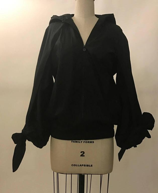 Chanel New with Tags Cruise 2015 Black Windbreaker Jacket with Detachable Scarf 2