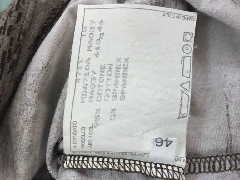 Alexander McQueen 1990s Goya Los Caprichos Etching Print Shirt T-Shirt Brown 5