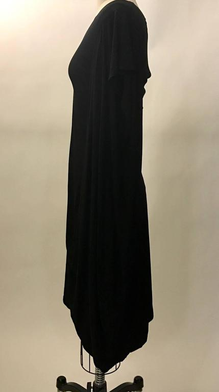 Alexander McQueen New with Tags Infinity Sleeve Black Jersey Dress, 2009  In New Condition For Sale In San Francisco, CA