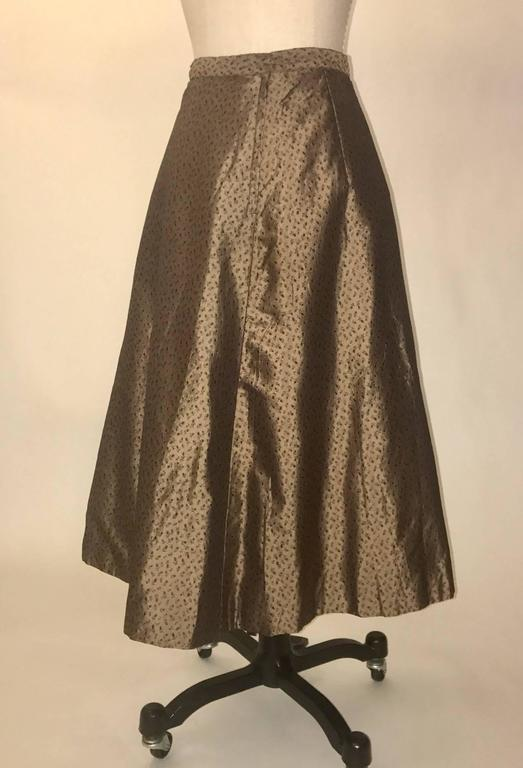 Jean Desses 1950s American Collection by IM Bagedonow Floral Skirt Suit 4