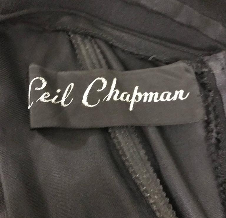 Ceil Chapman 1950s Silk Cocktail Dress with Pink Red Sash Cummerbund 4