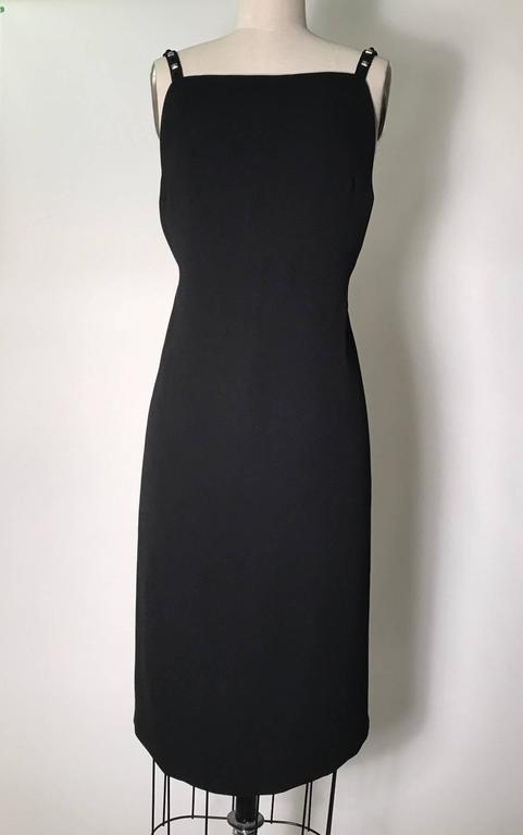 Gianni Versace Couture Vintage 1990s Backless Studded Little Black Dress 2
