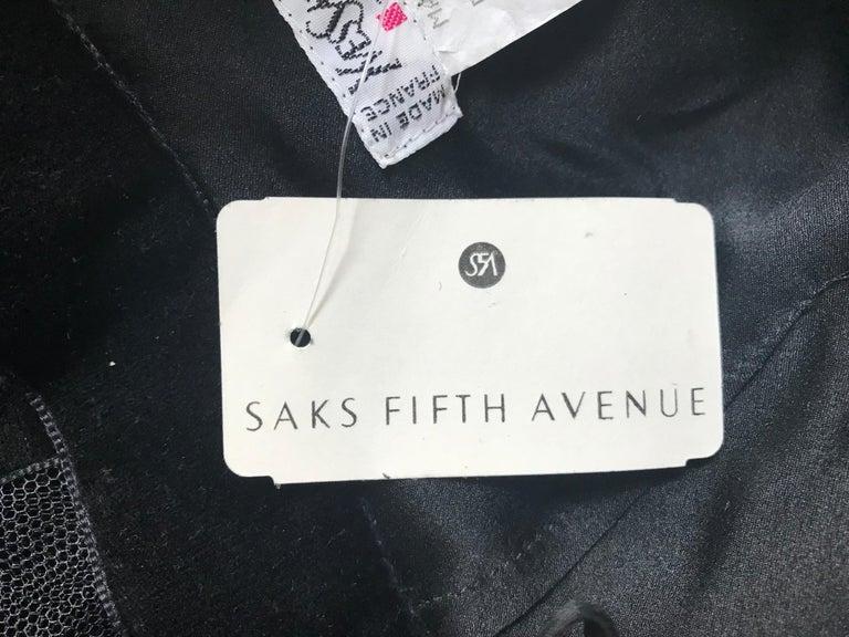 Yves Saint Laurent 1990s Rive Gauche Black Velvet Jacket Tulle Ball Skirt Suit For Sale 7