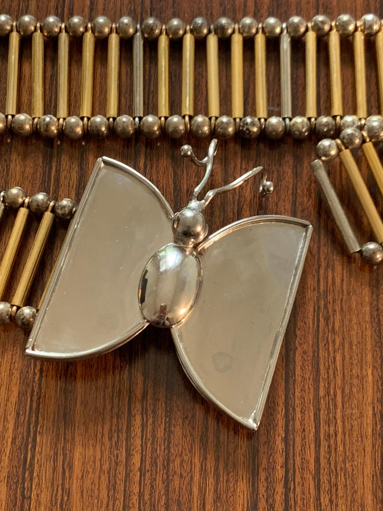 William deLillo 1960s Metal Butterfly Butterfly Belt For Sale 1