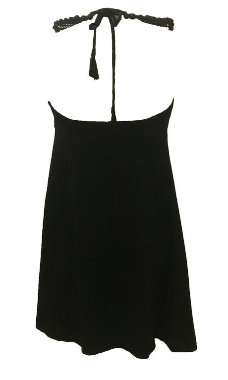 Moschino Couture! 90s Black A-Line 'Fake' Necklace Dress  2