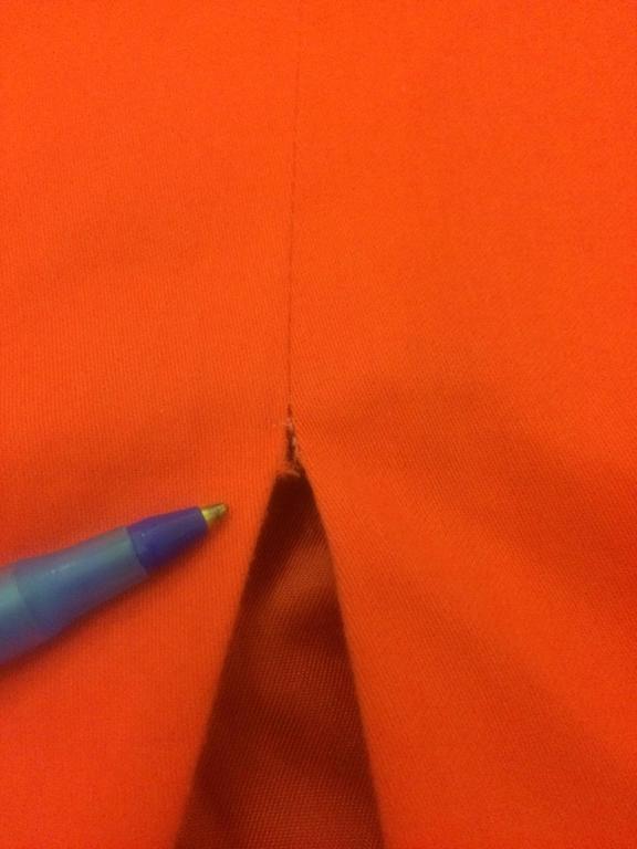 Stephen Sprouse Vintage 1990s Red Slash Pocket Sleeveless Pencil Dress For Sale 1