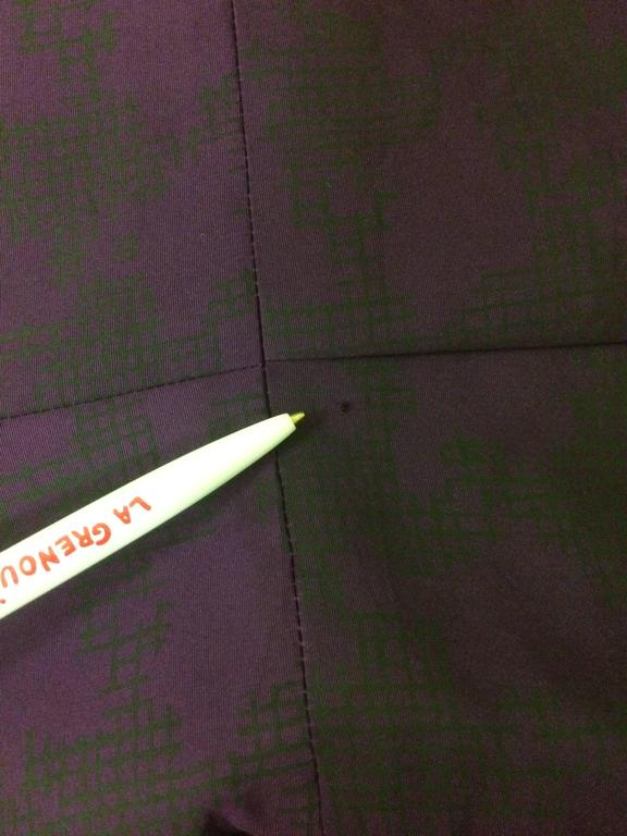 Women's Oscar de la Renta Purple Ombre Houndstooth Check Silk Cocktail Dress For Sale
