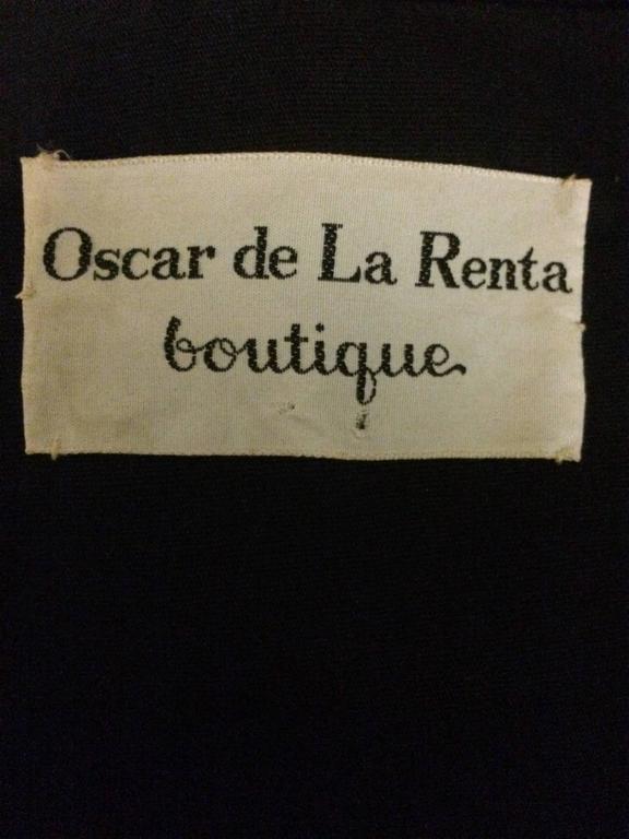 Oscar de la Renta Boutique Vintage 1970s Cropped Ethnic Print Vest 3