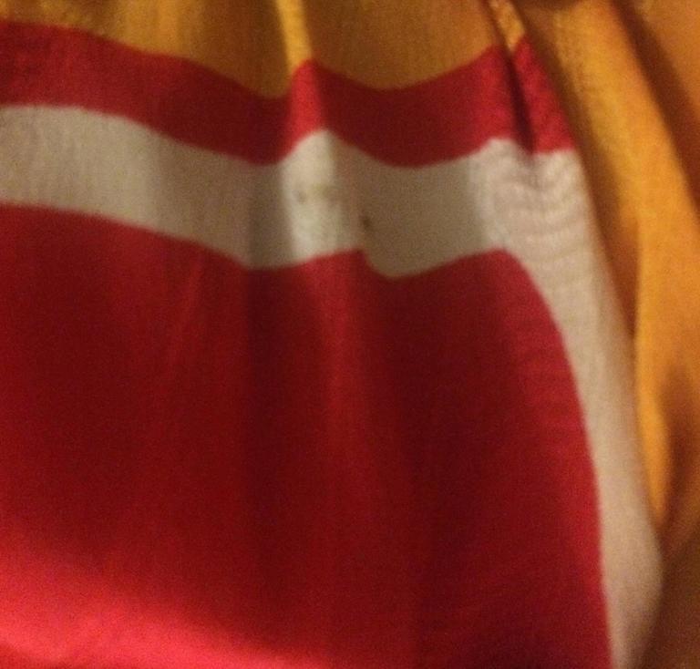 Michaele Vollbracht Red Yellow Black Silk Man in Sombrero Maxi Skirt, 1980s  For Sale 1