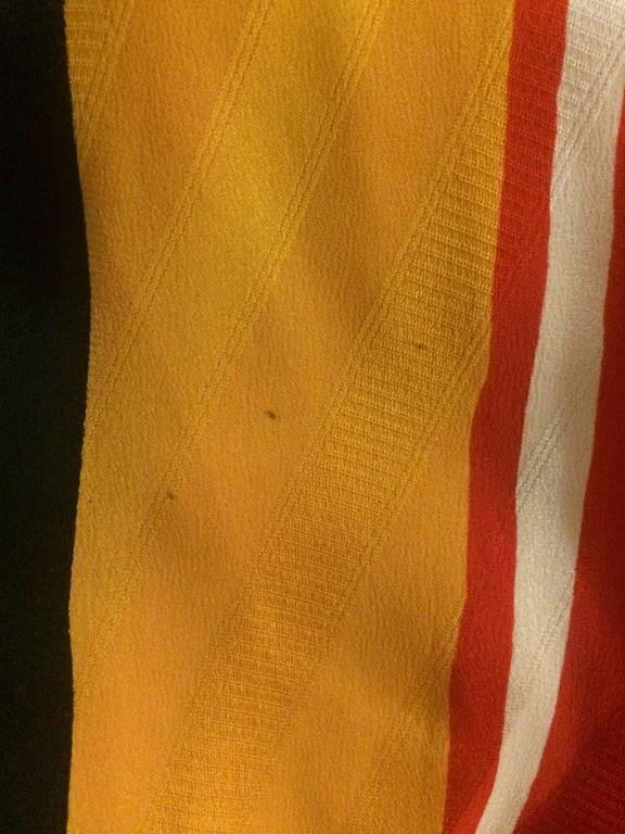 Michaele Vollbracht 1980s Red, Yellow, Black Silk Man in Sombrero Maxi Skirt 7