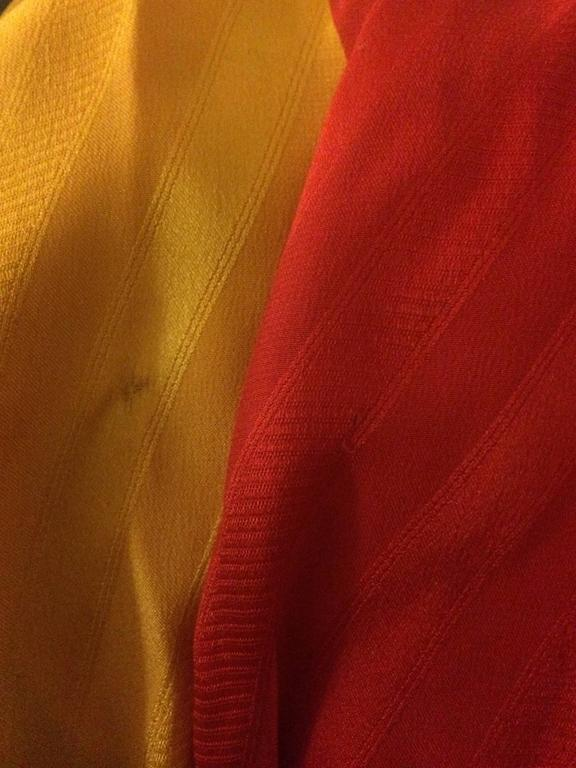 Michaele Vollbracht Red Yellow Black Silk Man in Sombrero Maxi Skirt, 1980s  For Sale 3