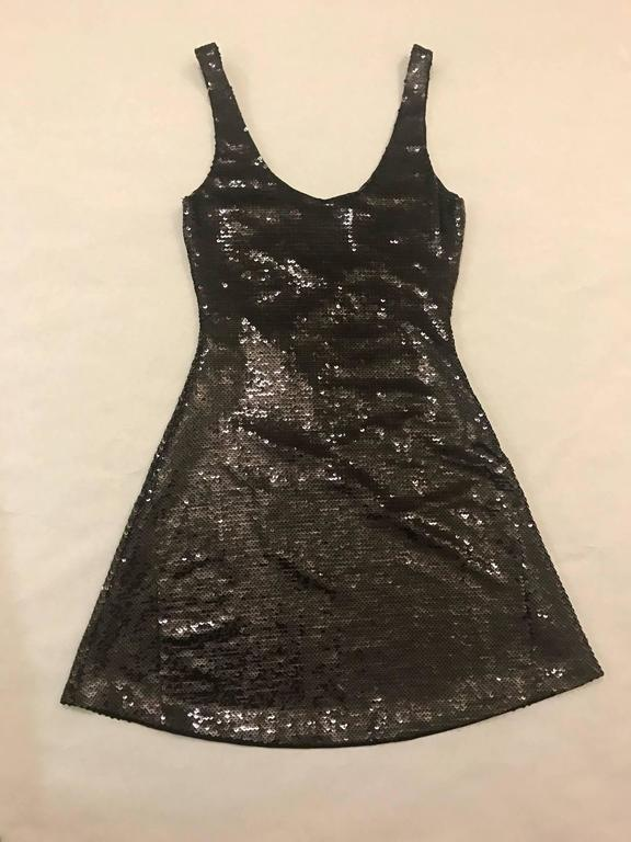 Moschino Couture New with Tags Sequin Little Black Dress Print Jeremy Scott 2