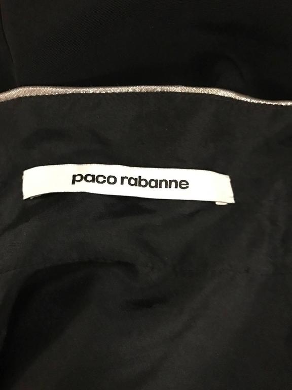 Paco Rabanne Black and Silver Metallic High Neck Sleeveless Top 4