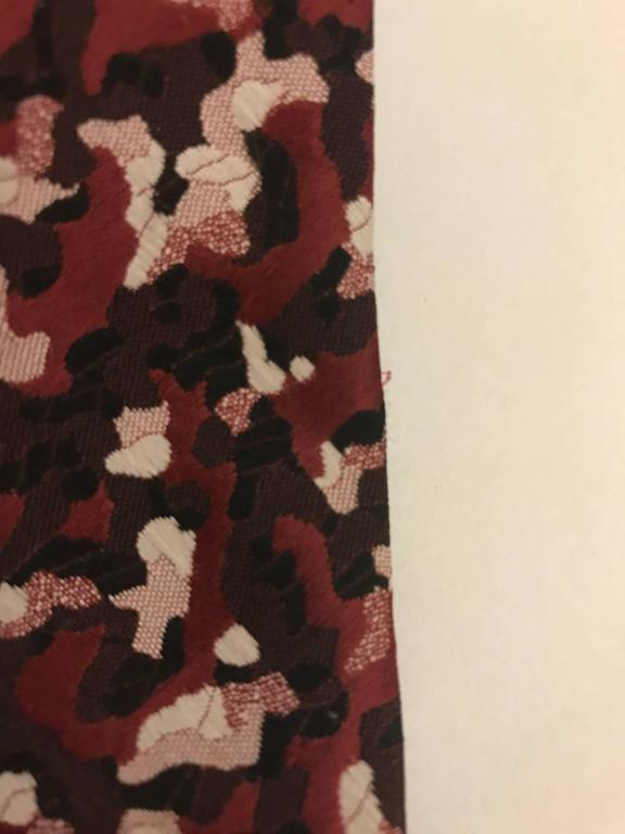 Schiaparelli for Hughes & Hatcher Red Patterned Wide Tie Necktie, 1960s  In Good Condition For Sale In San Francisco, CA