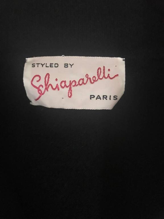 Schiaparelli 1960s Black Flower Button Yellow Floral Appliqué Cardigan Sweater 4