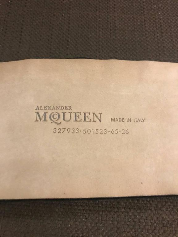 Alexander McQueen Crystal Embellished Black Velvet Wide Waist Snap Belt For Sale 1