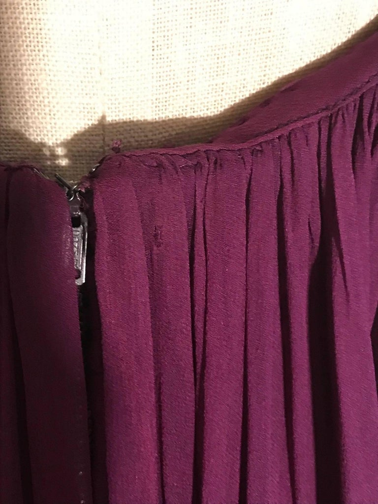 Women's Malcom Starr 1960s Purple Silk Chiffon Evening Gown Dress For Sale