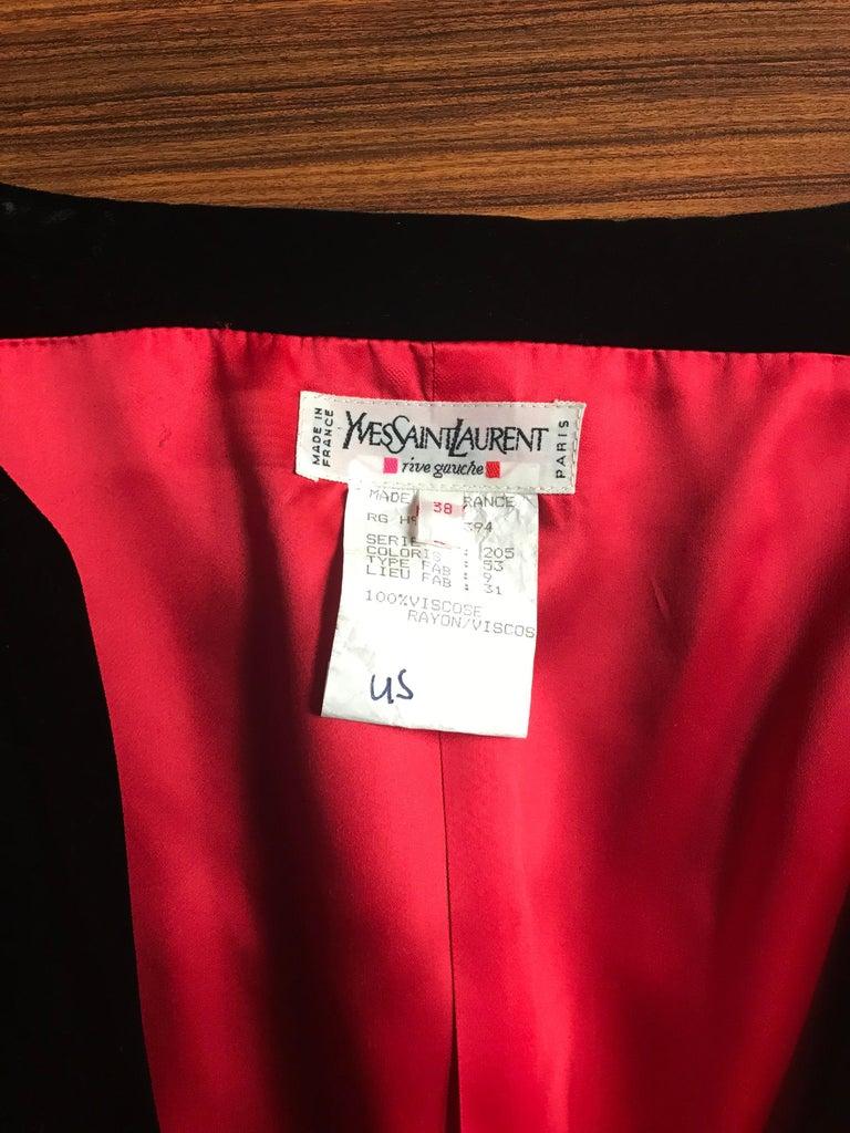 Yves Saint Laurent 1990s Rive Gauche Black Velvet Jacket Tulle Ball Skirt Suit For Sale 6