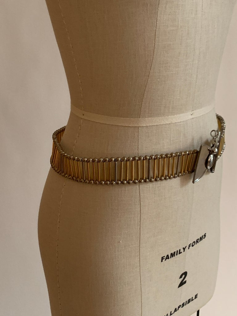 Brown William deLillo 1960s Metal Butterfly Butterfly Belt For Sale
