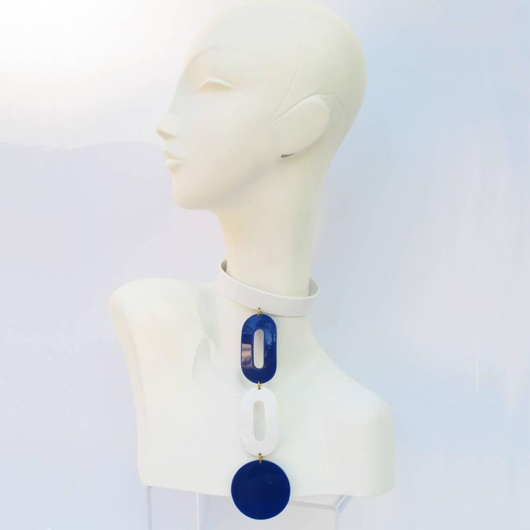 Andre Courreges Bold Mod Space Age Necklace 3