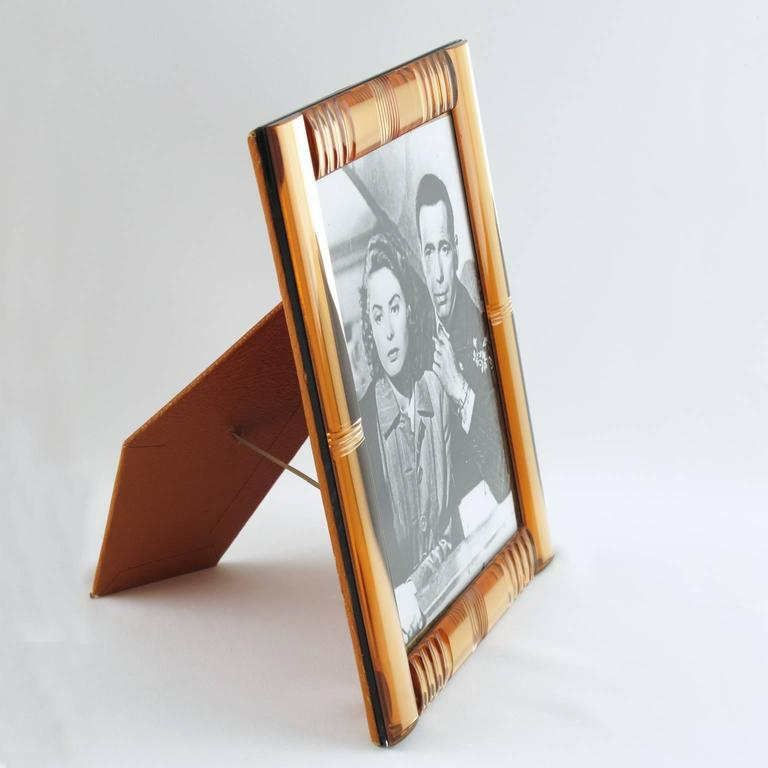 French Vanity Mirrored Picture Photo Frame circa 1940s 2