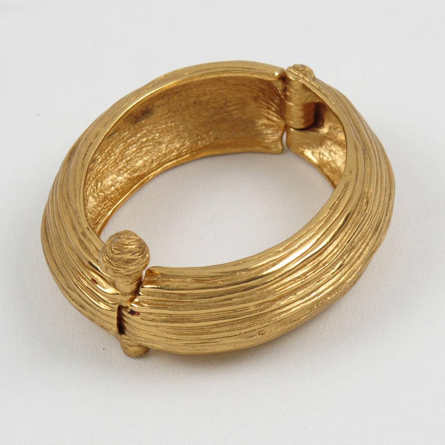 by clamper bypass on black pin bracelet gold tone itsallforhim etsy vintage and