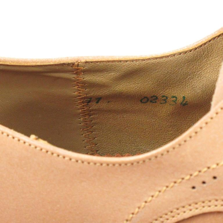 Vintage 1950s Nude Leather Derbys Men Shoes Size 41 / 8.5 US For Sale 5