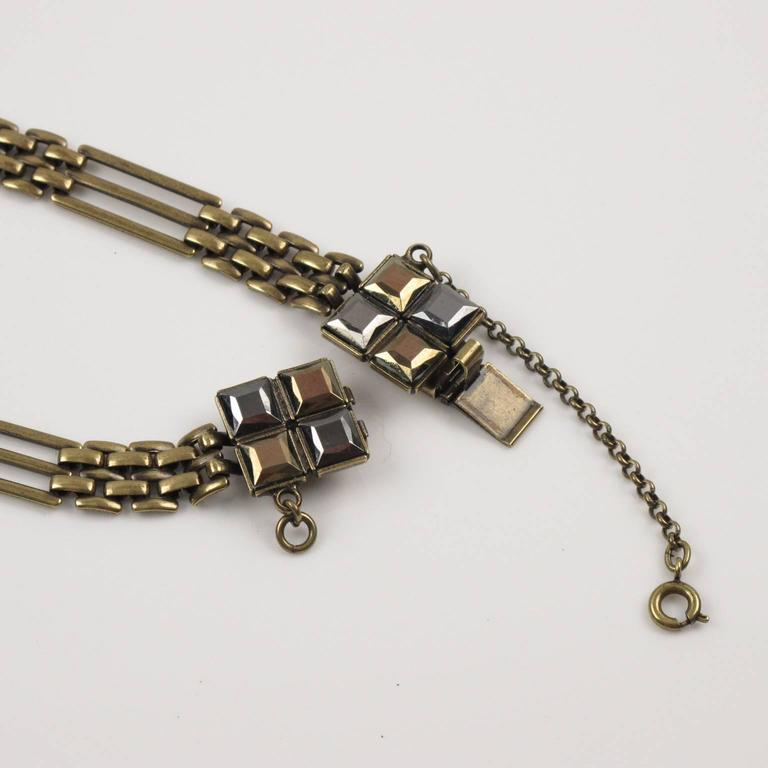 Jean Paul Gaultier Paris Extra Long Tie Necklace Metallic Rhinestones For Sale 5