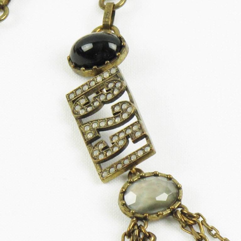 jean paul gaultier paris vintage rare xx multi strand long