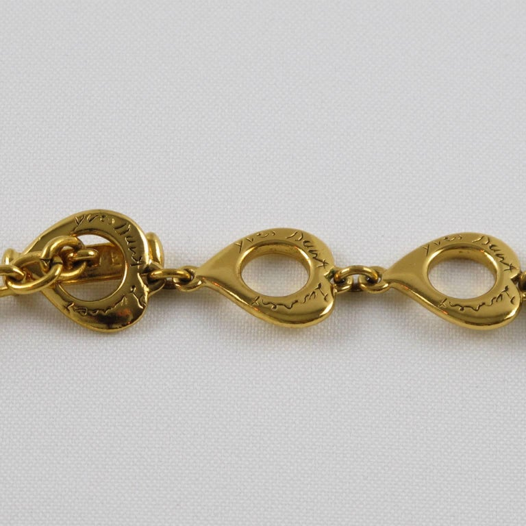 Yves Saint Laurent Romantic Necklace Large Cross Pendant Pearl and Enamel For Sale 3