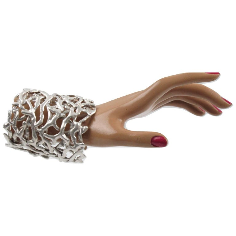 Biche De Bere Paris Signed Cut Out Brutalist Cuff Bracelet