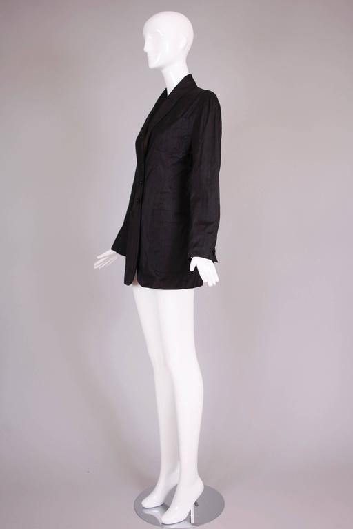 Romeo Gigli 100% Silk Open Back Jacket Top Circa 1989 6