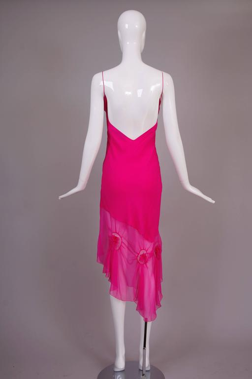 John Galliano for Christian Dior Shocking Pink Silk Chiffon Dress Ca. 2000 5