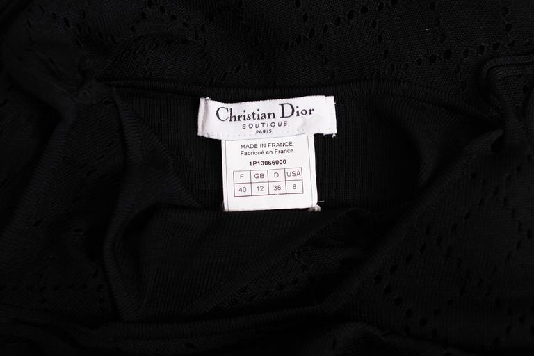 Christian Dior Sleeveless Black Bodycon Evening Gown w/Dramatic Frontal Slit For Sale 3
