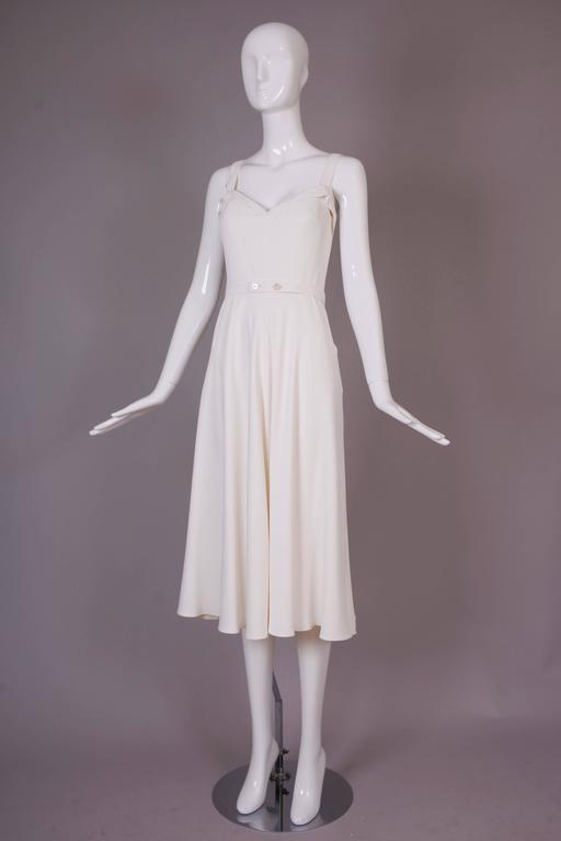 Ralph Lauren Purple Label White Summer Dress In Excellent Condition For Sale In Los Angeles, CA