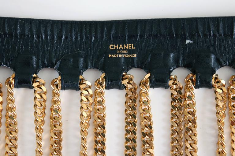 Iconic Chanel Fringe Chain Belt 6