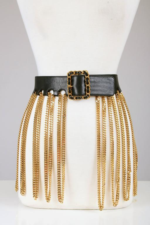 Iconic Chanel Fringe Chain Belt 2