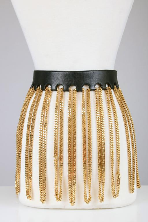 Iconic Chanel Fringe Chain Belt 3