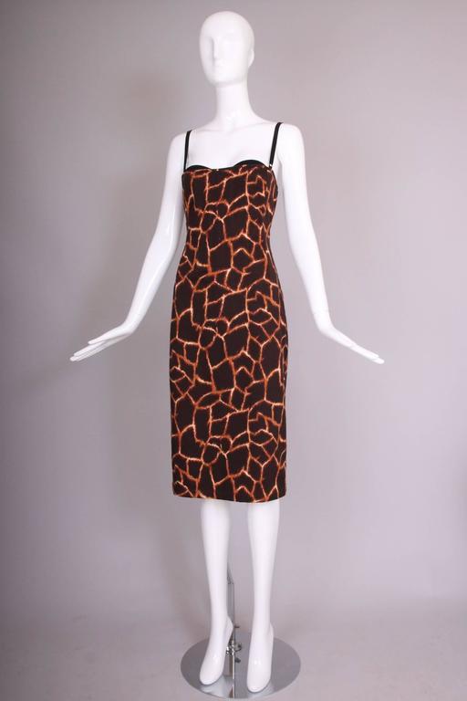 Dolce & Gabbana Giraffe Print Bustier Dress 3