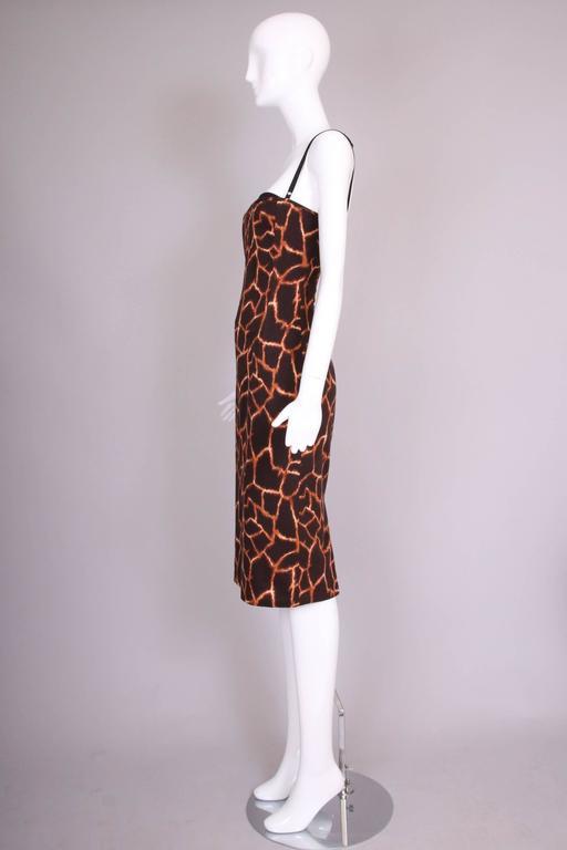 Dolce & Gabbana Giraffe Print Bustier Dress 4