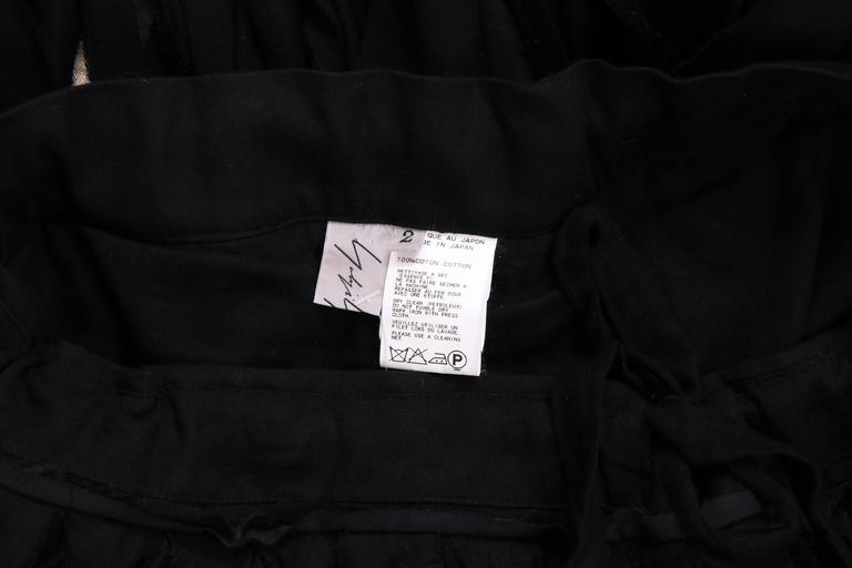 Yohji Yamamoto Black 100% Cotton Carwash Skirt  For Sale 2