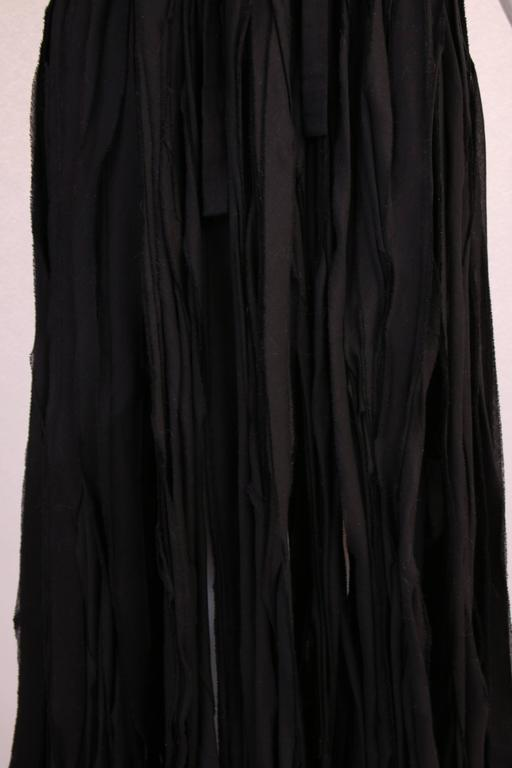 Yohji Yamamoto Black 100% Cotton Carwash Skirt  For Sale 1