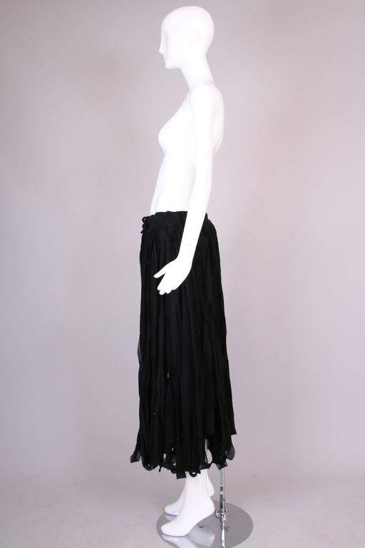 Yohji Yamamoto Black 100% Cotton Carwash Skirt  In Excellent Condition For Sale In Los Angeles, CA