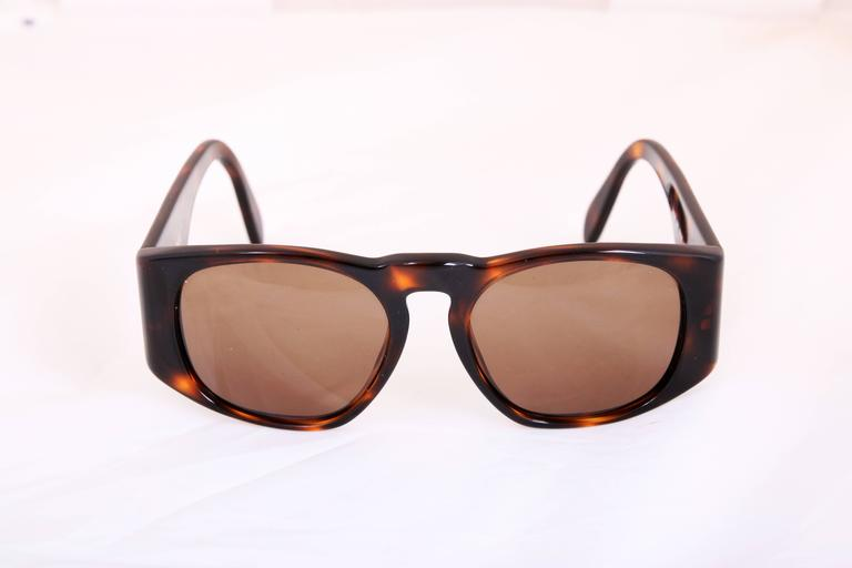Chanel tortoise shell sunglasses as seen on Lady Gaga. In excellent condition.