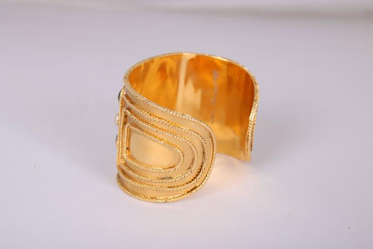 Chanel Gripoix Bracelet Cuff, 2005  For Sale 2