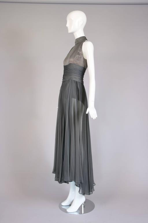 Women's Chloe by Stella McCartney Gray Evening Gown  For Sale