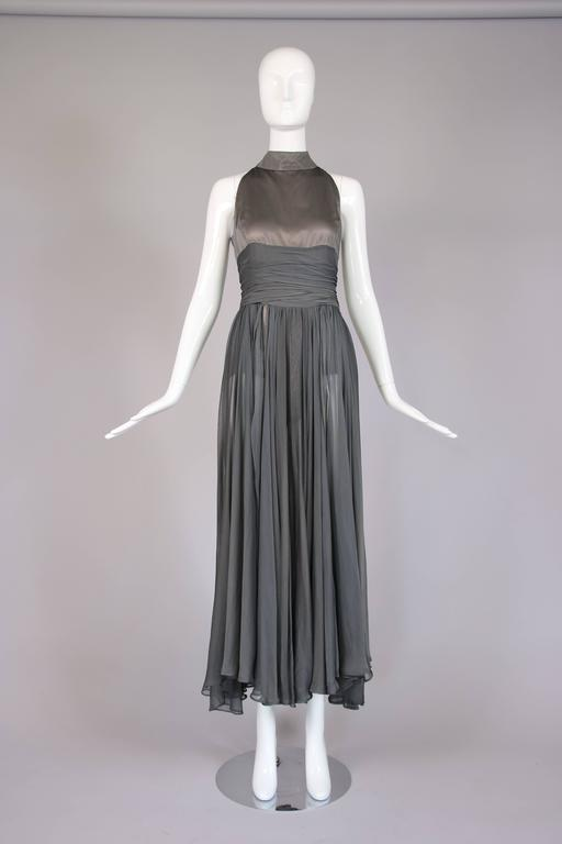 Chloe by Stella McCartney Gray Evening Gown  In Good Condition For Sale In Los Angeles, CA