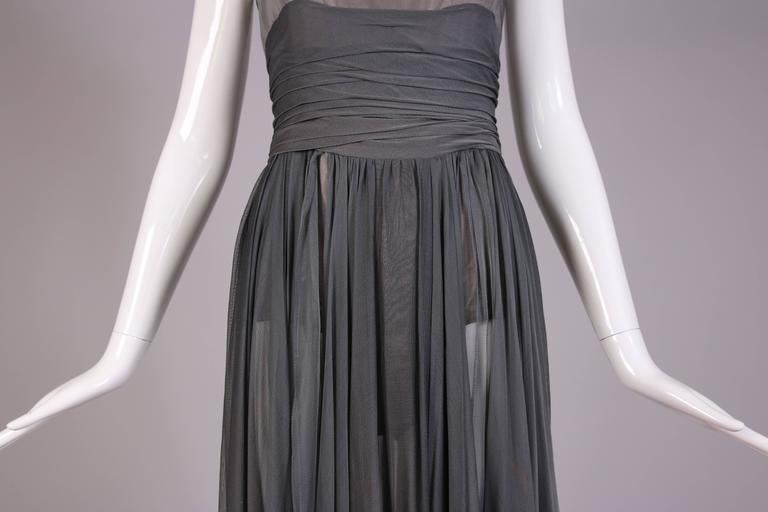 Chloe by Stella McCartney Gray Evening Gown  For Sale 2