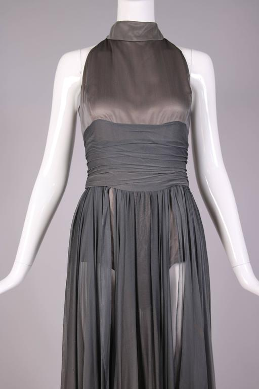 Chloe by Stella McCartney Gray Evening Gown  For Sale 1