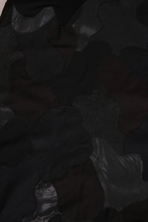 Alexander McQueen Black Cotton Stretch Tank Dress w/Appliqued Skirt For Sale 2